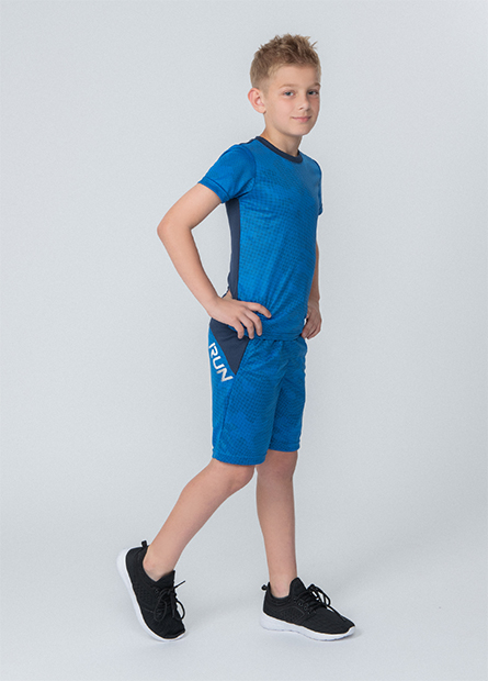 男童圓領短袖運動上衣