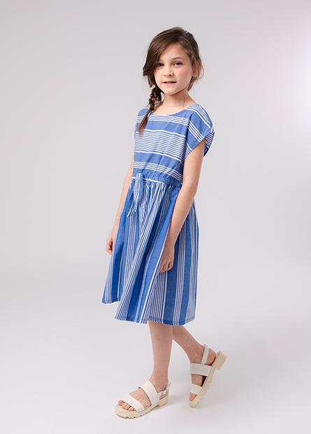 女童彈性縮腰洋裝
