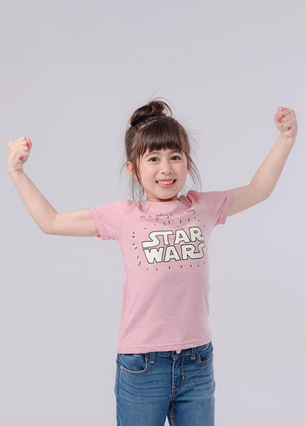 女童STAR WARS印花T