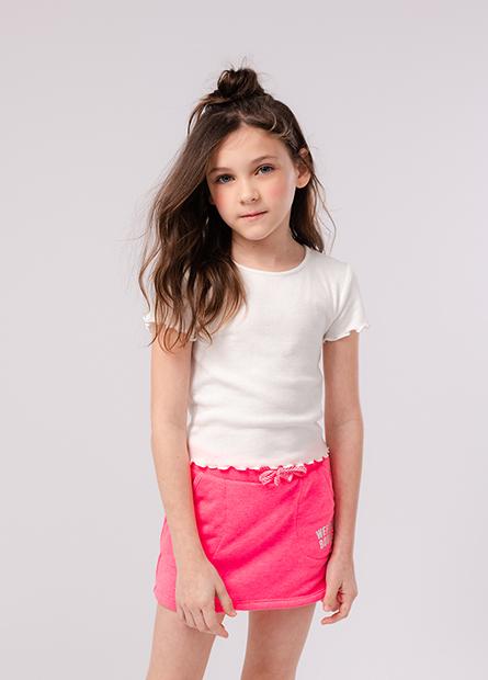 女童字母抽繩裙式短褲