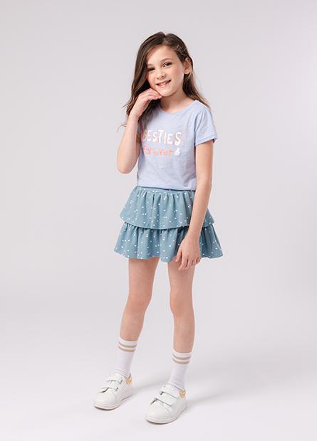 女童蛋糕裙式短褲