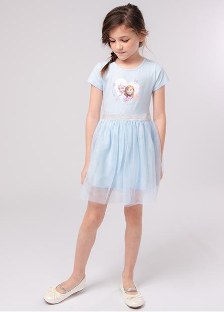 女童冰雪奇緣紗裙洋裝