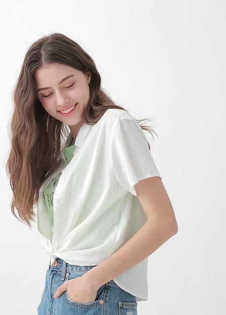 短袖休閒襯衫