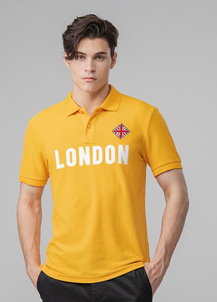 繡字英國旗POLO衫