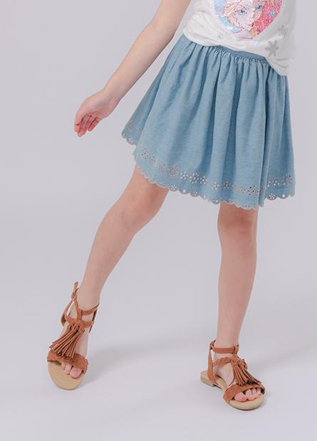 女童造型牛仔短裙
