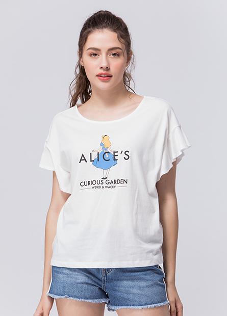 愛麗絲荷葉袖T