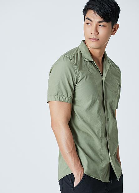 素色短袖襯衫