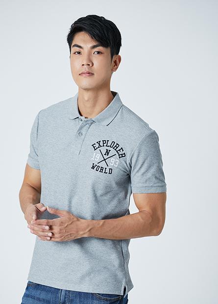 美式文字POLO衫