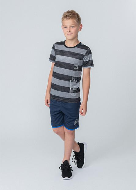 男童條紋字母運動上衣