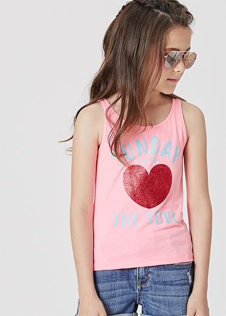 女童印愛心背心