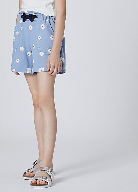 女童斜紋寬口短褲