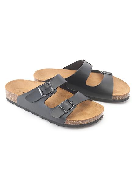 雙條帶休閒拖鞋