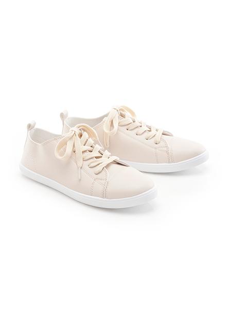 女綁帶小白鞋