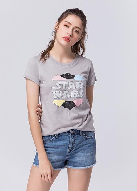 STAR WARS字母雲朵T