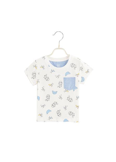 男嬰滿版口袋印花T