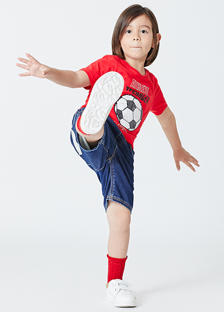男童足球籃球亮片T