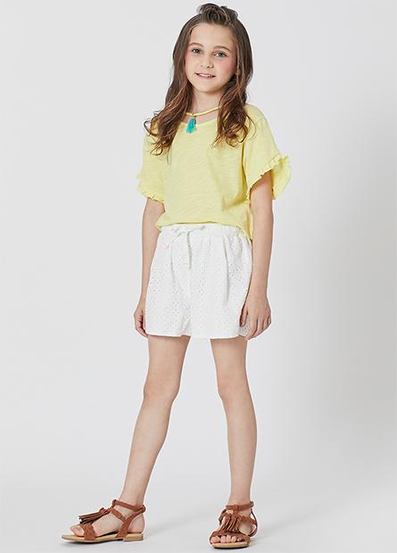 女童流蘇裝飾上衣