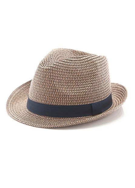 織帶紳士草帽