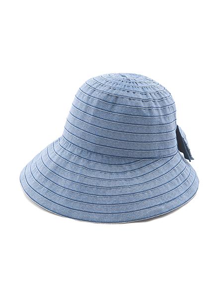 雙色蝴蝶結遮陽帽