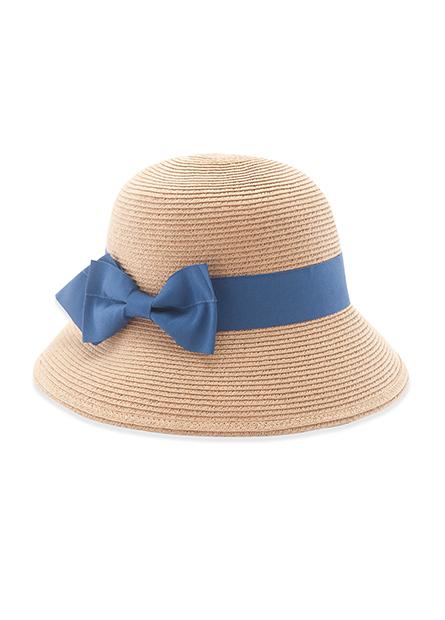 蝴蝶結裝飾紙辮遮陽帽