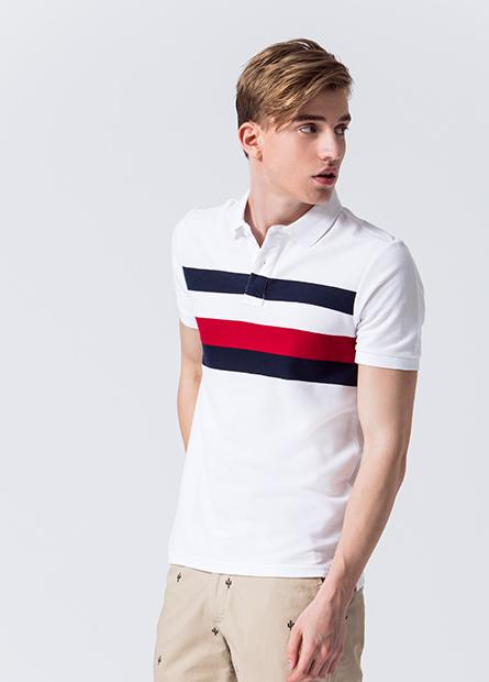 雙色條紋POLO衫