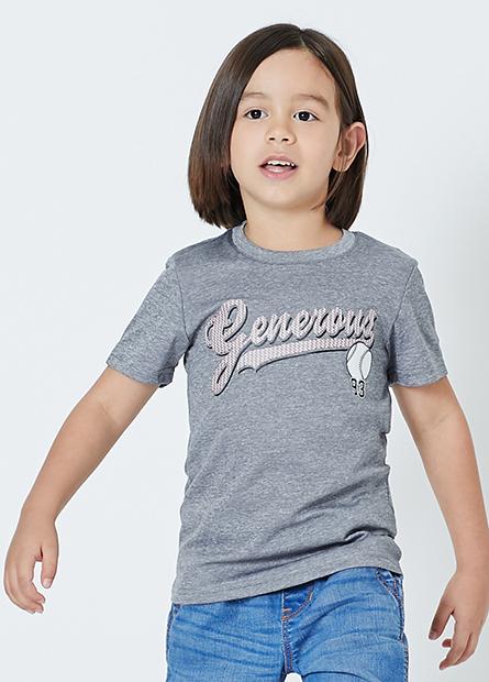 男童美式棒球字母T