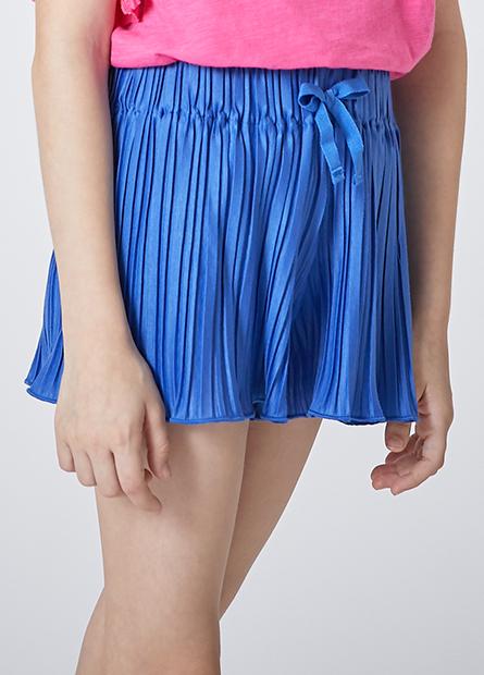 女童壓褶寬口短褲