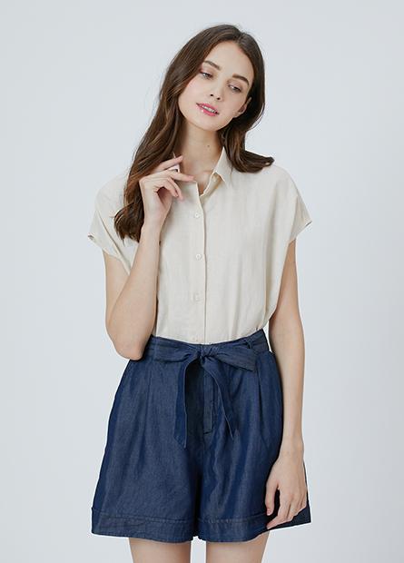 襯衫領短袖襯衫