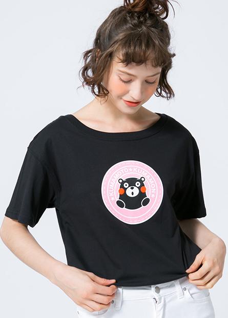 熊本熊落肩寬鬆T