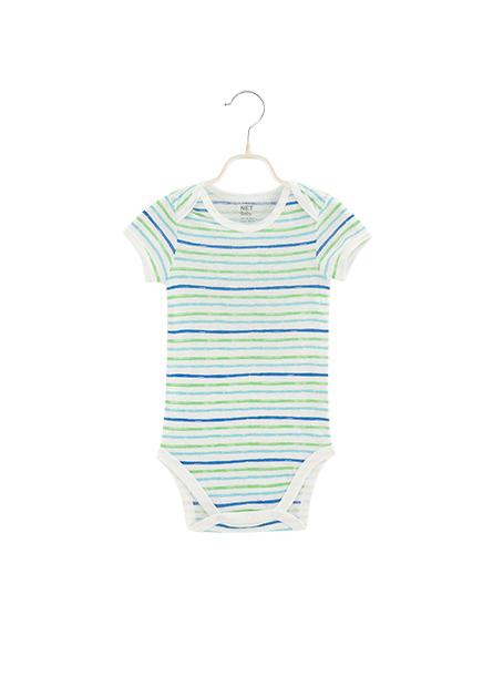 男嬰活動肩短袖包臀衣