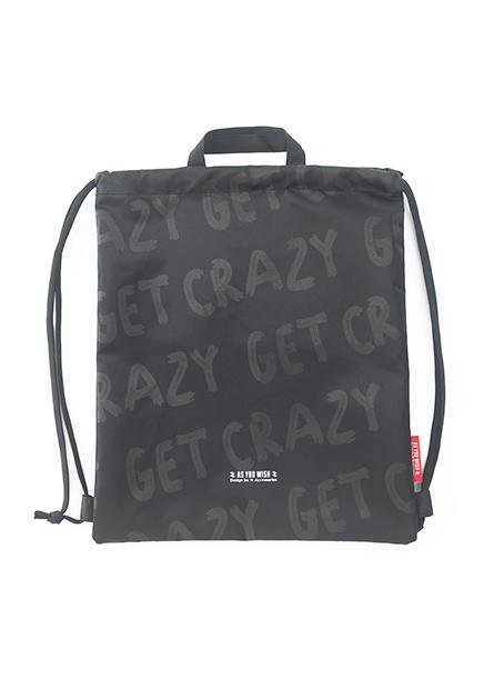 街頭風字母束口後背包
