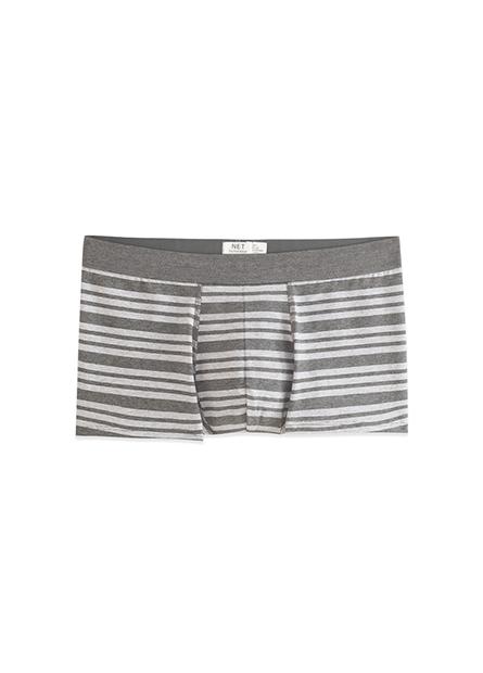 中低腰條紋平口內褲