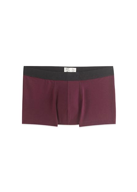 素色中低腰平口內褲