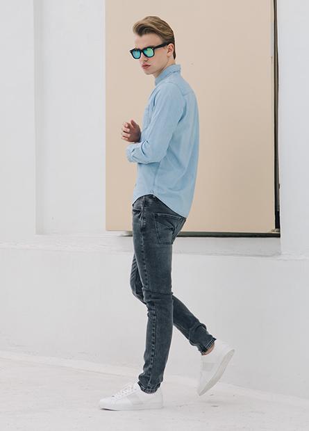 Skinny Fit窄管牛仔長褲