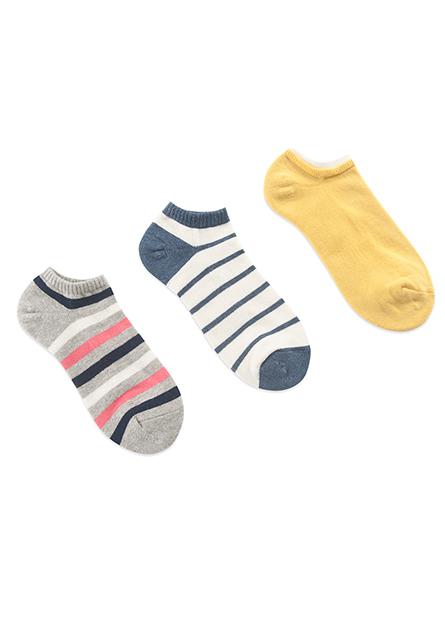 女毛巾底踝襪(三入)
