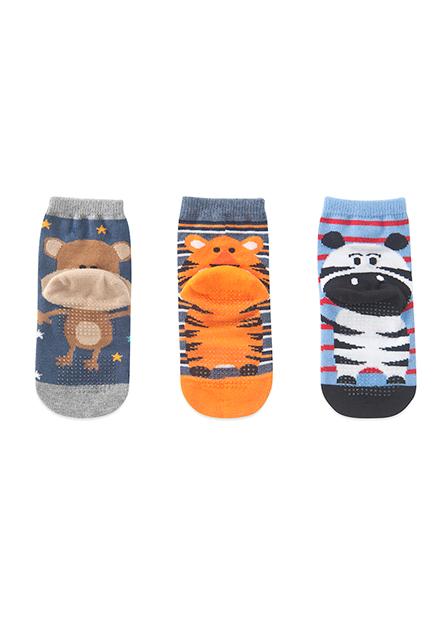 男嬰提花短襪(三入)