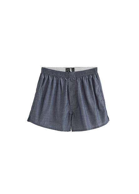 純棉素色四角內褲