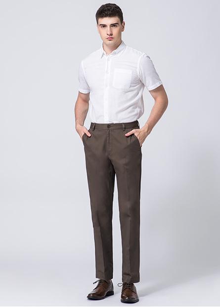 Classic Fit無摺長褲