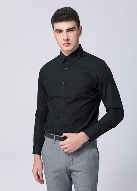 Slim修身標準領防皺襯衫