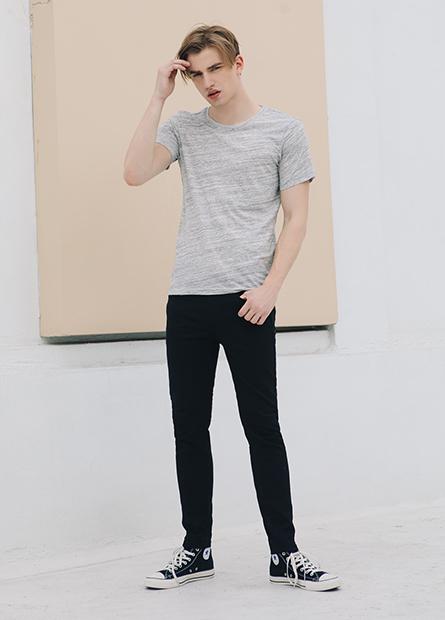 Skinny Fit窄管牛仔九分色褲