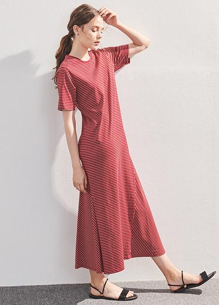 彈性柔棉長洋裝