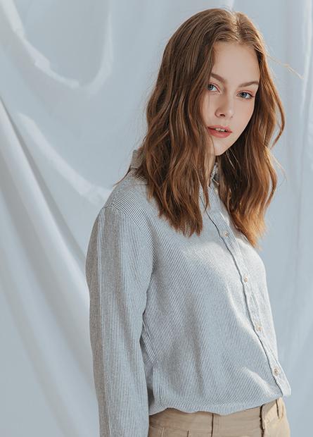 休閒長袖襯衫