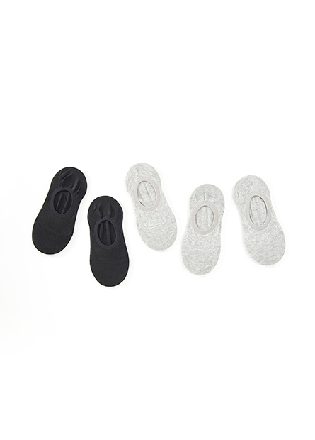 女素色隱形襪(五入)