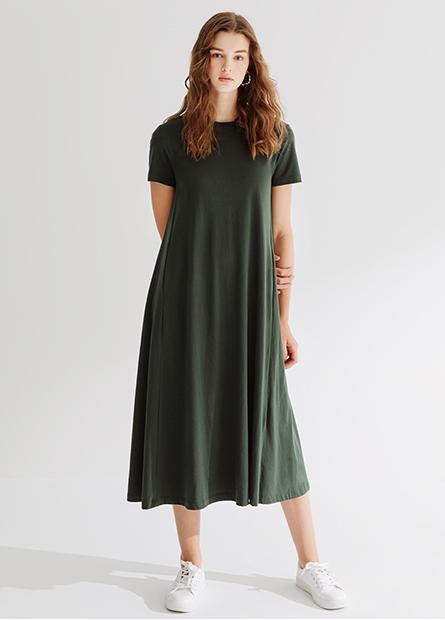 圓領傘襬洋裝