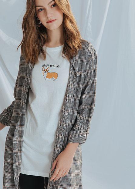 長版綁帶襯衫