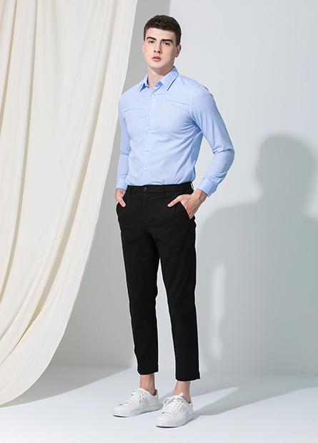 Slim Fit 彈性九分長褲