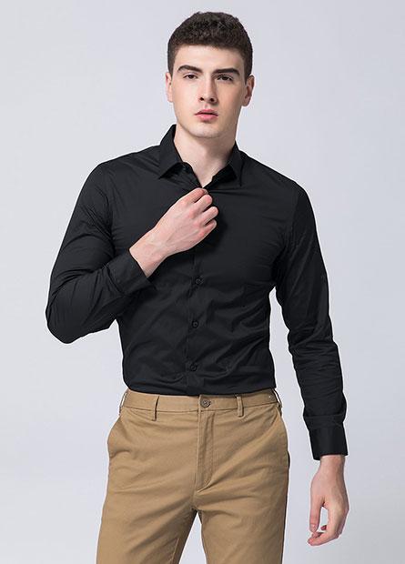 Skinny Fit商務長袖襯衫