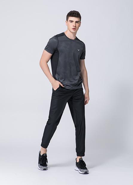 雙層運動束口褲