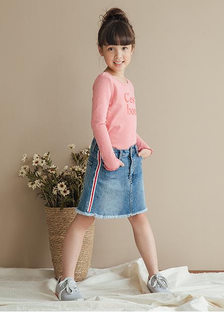 女童牛仔短裙