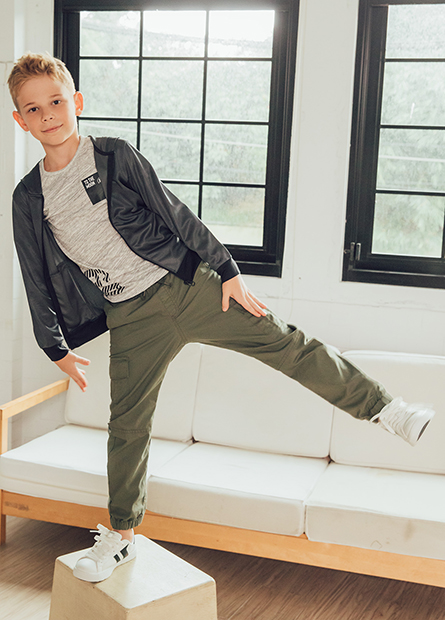 Regular Fit男童工作褲